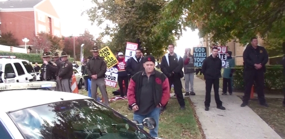 westboro baptist church thugs invade mcalester oklahoma