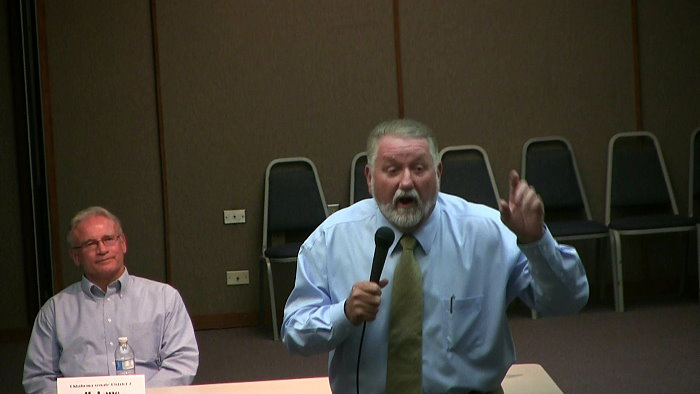 GOP senate candidate Larry Bogg attacks Obama at debate. Get fierce opposition from audience.