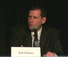 Rob Wallace (candidate for US Congress - 2nd district Oklahoma) speaks at candidate forum about need for comprehensive water plan to creat jobs.